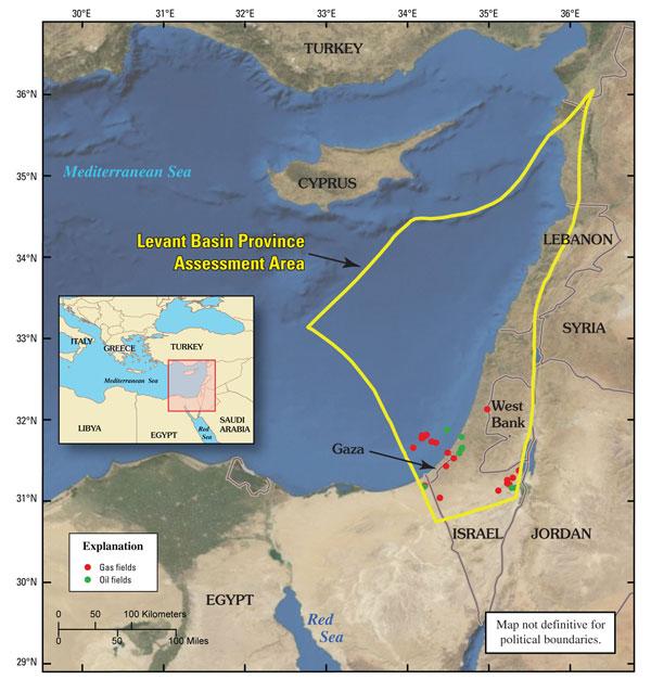 Esposizione Attorno Al Mediterraneo : Il calore attorno al triangolo dei giacimenti di gas e