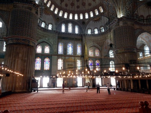istanbul interno moschea blu Sultan Ahmed Mosque